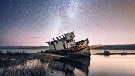 abandoned beach boat  wallpapers hd wallpapers id