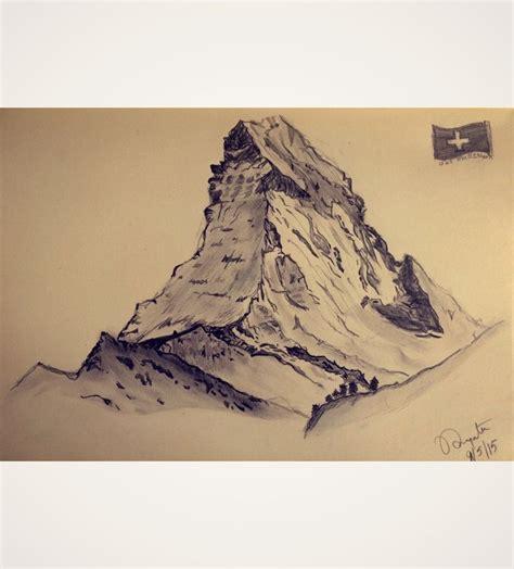 watercolor tattoo schweiz matterhorn switzerland sketch ideas