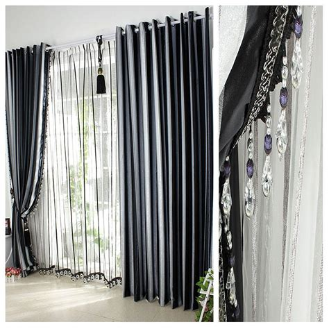 Black And White Window Curtains Agreeable Black Big Curtain Idea Plus Stylish White Lined Color Decor Also Fashionable Glossy