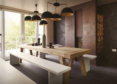Country Dining Room Decor combinando estilos mesas rusticas e cadeiras modernas