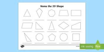 shapes worksheets year 5 name the 2d shape year 5 worksheet worksheet 2d shape