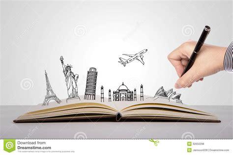 writing a picture book write on book of travel royalty free stock photos