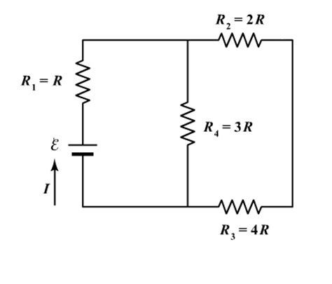 resistors r1 r2 and r3 are connected in parallel four resistors are connected to a battery as shown chegg