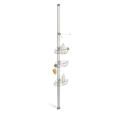 bathroom tension pole caddy tension pole shower caddy simplehuman stainless steel
