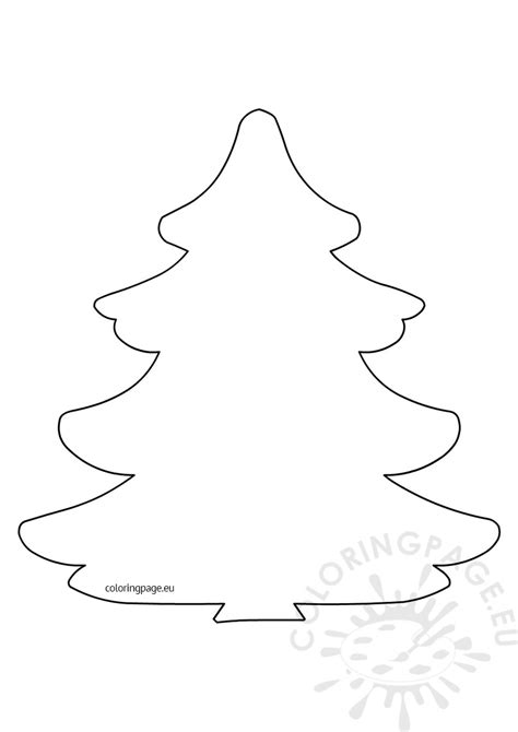 christmas tree pattern to color large christmas tree pattern coloring page