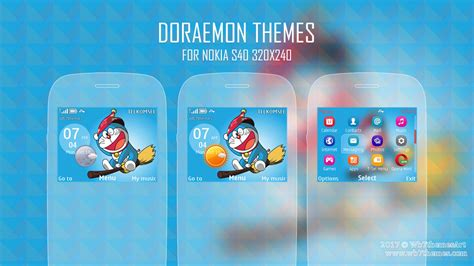 Themes Doraemon Nokia Asha 205 | doraemon theme for nokia c3 00 default icon wb7themes