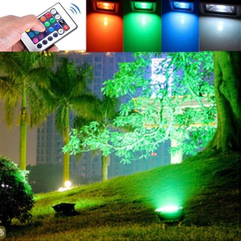 10w outdoor garden light waterproof rgb color changing