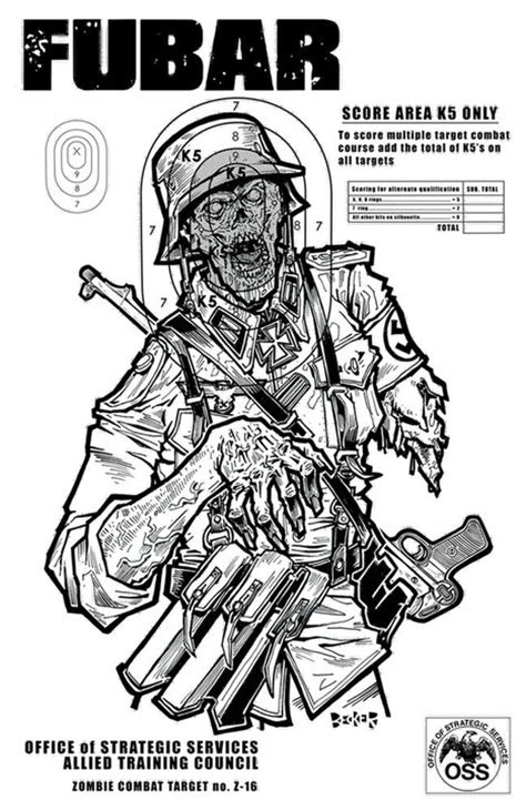 printable zombie targets fubar zombie target practice part 2 fubar