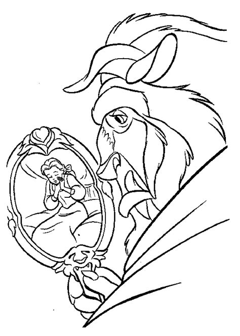 Beauty And The Beast Coloring Pages Coloringpages1001 Com And The Beast Colouring Pages