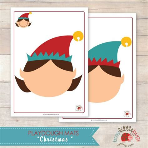 printable christmas playdough mats bisy little bugs christmas playdough mats girl boy elf