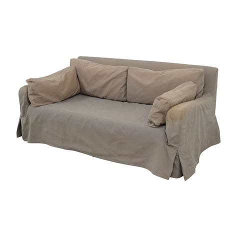 belgian slope arm sofa 90 off restoration hardware restoration hardware