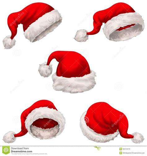 santa cap santa claus caps stock illustration image of cheerful