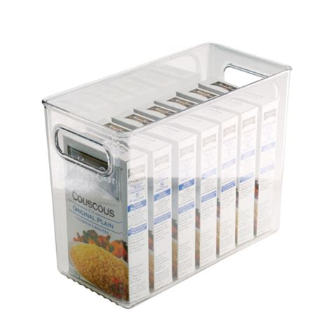 Kitchen Storage Bins by Clear Plastic Storage Bin 10 Inches By 8 Inches In