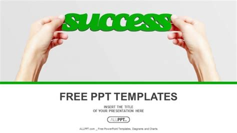 Hand And Word Success Isolated Powerpoint Templates Success Powerpoint Templates Free