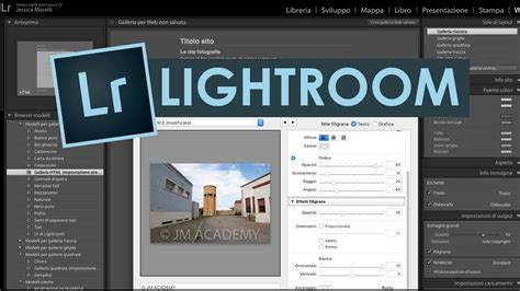 membuat watermark di photoshop lightroom tutorial lightroom italiano applichiamo un filigrana