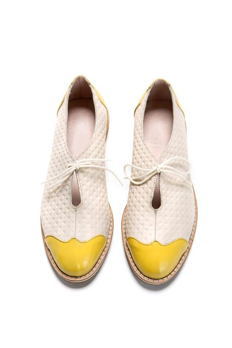 tie oxford shoes sale 45 oxford flat shoes white and yellow oxford