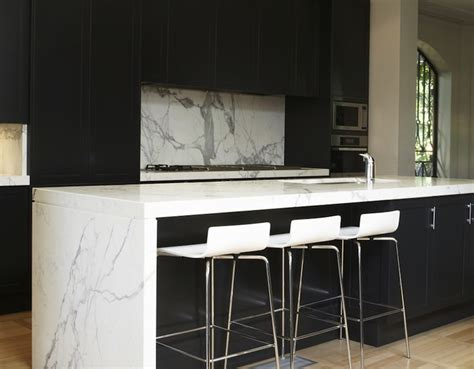 Black Kitchen Cabinets With White Countertops Black Kitchen Cabinets With White Countertops Modern Kitchen Marco Meneguzzi