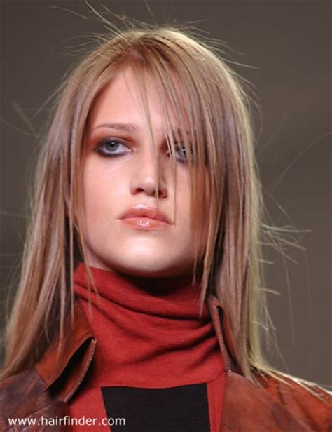 cut your own hair without a blunt end long blunt cut hair with razor texture on the ends