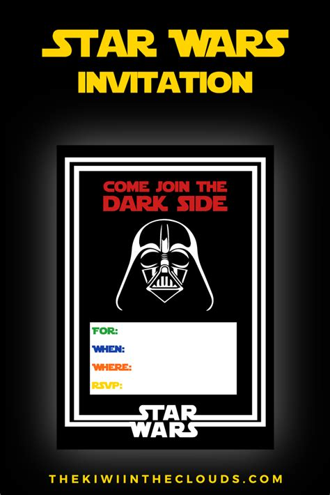 wars card template wars printables a no stress way to a galactic