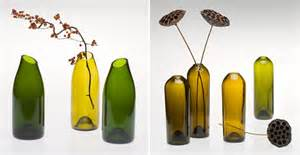 Wine Glass Vase Recycling And Reusing Old Wine Bottles As Art