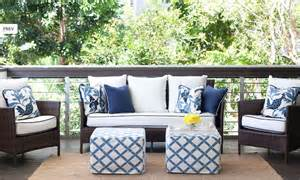 diane bergeron chic white blue deck patio design with - Blue Patio Furniture