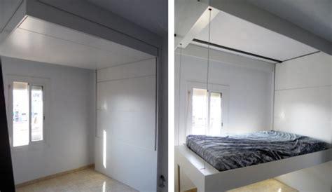 camas plegables a la pared ideas de camas que se esconden en el techo pared o dentro