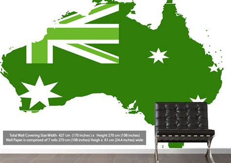 green wallpaper australia australia flag map maps green wallpaper printed wall paper
