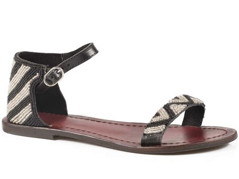 roper sandals roper sandals black leather chevron beaded ankle