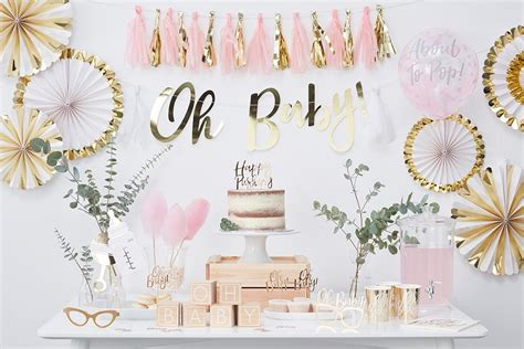 Pink & Gold Baby Shower Ideas   Party Delights Blog