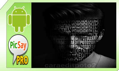 tutorial edit foto typography picsart cara edit foto typography wajah di picsay pro android