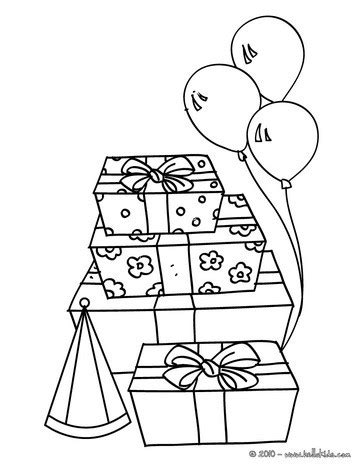 birthday gifts coloring pages hellokids com