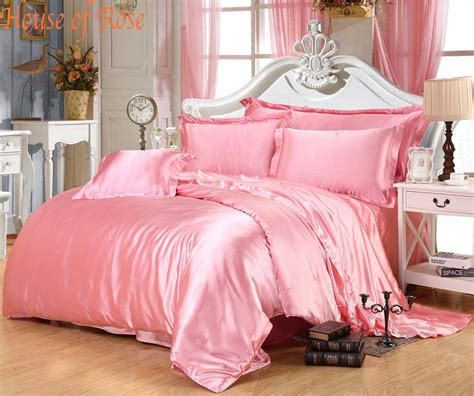 silk bedroom luxury light pink silk bedding sets chinese silk duvet