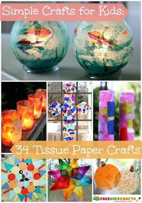 Tissue Paper Crafts For Toddlers - simple crafts for 34 tissue paper crafts