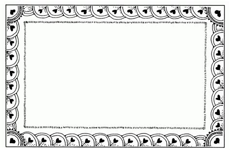 border clipart black and white letters exle