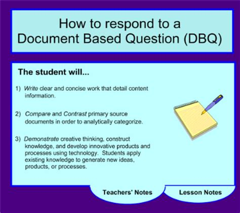 smart exchange usa how to respond to a document based question dbq