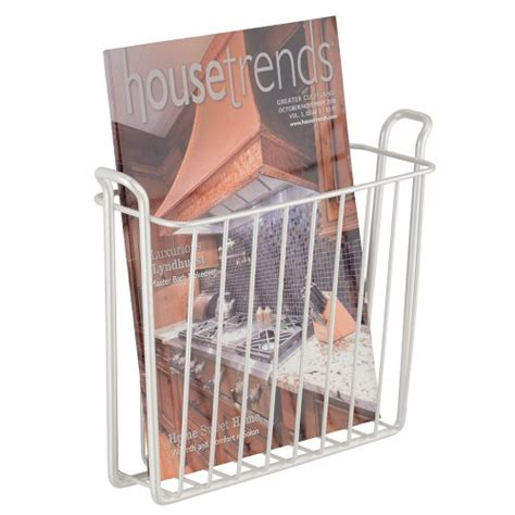 wall mount bathroom magazine rack interdesign classico wall mount newspaper and magazine