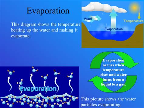 diagram to show evaporation the water cycle by nash guyre ppt