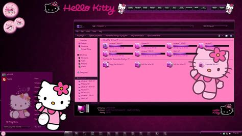 hello kitty wallpaper for windows 7 free download hello kitty windows 7 theme by thebull1 on deviantart