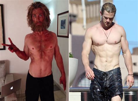 how much can chris hemsworth bench chris hemsworth was on starvation diet ny daily news
