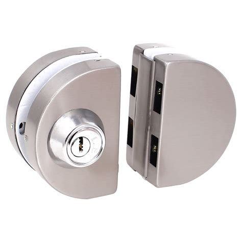 Glass Sliding Door Lock Entry Gate 10 12mm Glass Swing Push Sliding Door Lock With Pk Ebay