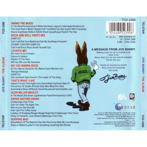 jive bunny swing the mood jive bunny the album by jive bunny and the mastermixers