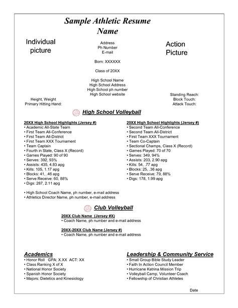 best photos of athlete resume exle student athlete