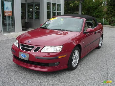 saab convertible red 2005 chili red metallic saab 9 3 aero convertible 1872580