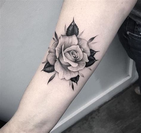 small black and white rose tattoos black and white on forearm tattoo handgelenk