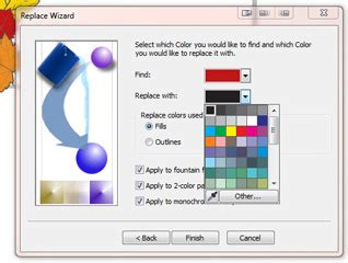 find and replace a color in coreldraw print