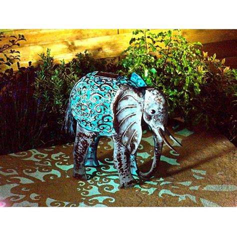 smart garden solar metal elephant light  sale fast