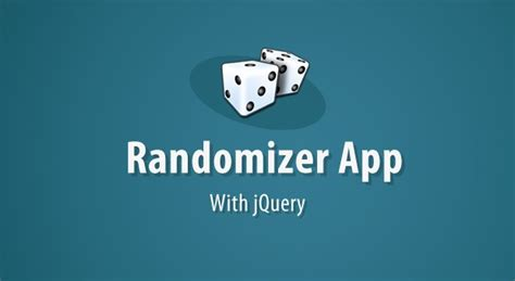 Giveaway Randomizer - making a giveaway randomizer app w jquery tutorialzine