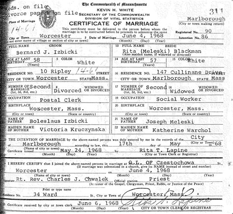 Massachusetts Marriage Records Free Marriage Massachusetts