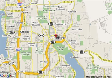 maps redmond map of marriott redmond town center redmond