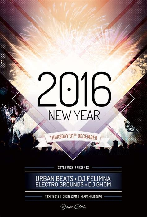 new years flyer template new year flyer template flyer template flyer and flyer design templates